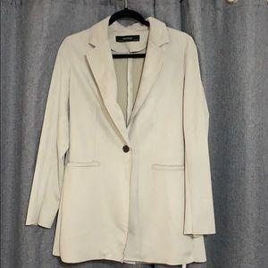 Zara suede grey coat
